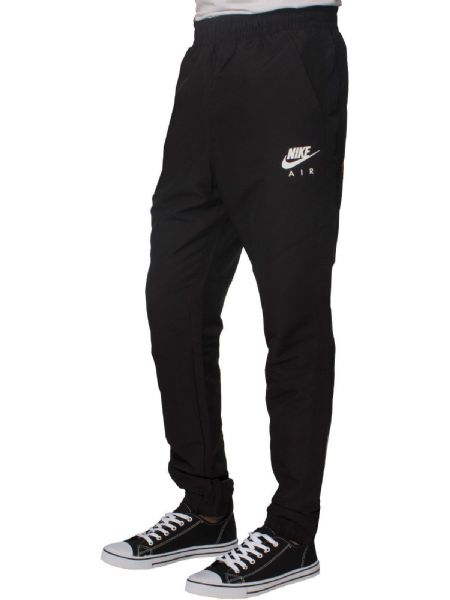 Nike AIR Mens Black Cuffed Tapered Fit Jogging Bottom Track Pants